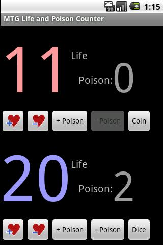 MTG Life and Poison Counter - screenshot