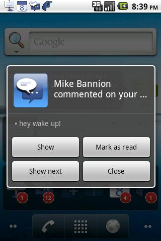 MB Notifications for Facebook - screenshot