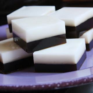 Coffee-Coconut Agar Dessert.