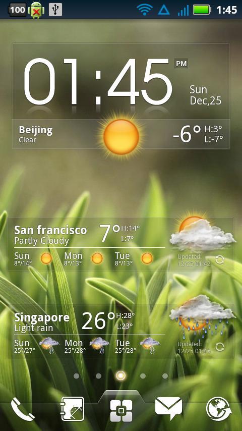 Ez clock weather widget aplicaciones de android en for Widget tiempo android