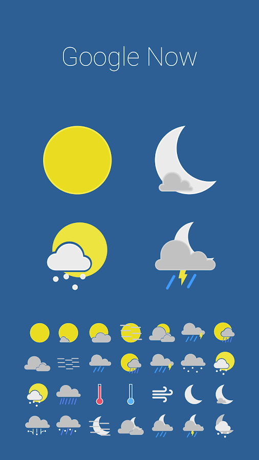 Color Weather Icons For Hdw Android Apps On Google Play