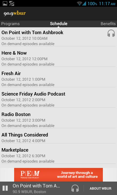 WBUR - screenshot
