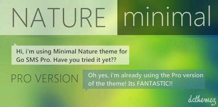 Go SMS Theme Min. Nature Pro