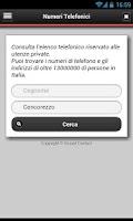 Screenshot of Numeri Telefonici