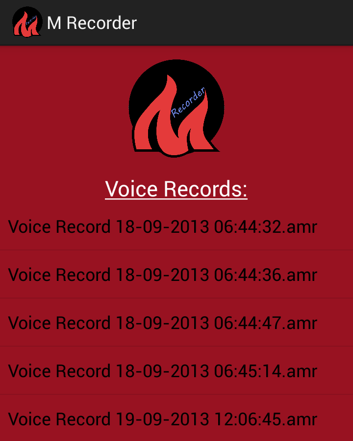 ... audio recording using m recorder you can record live voice and all you