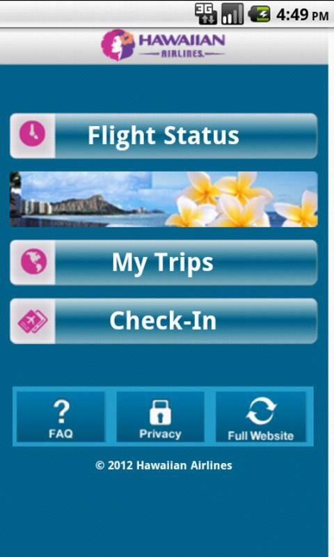 Hawaiian Airlines- screenshot