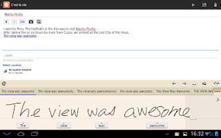 Screenshot of 7notes with mazec