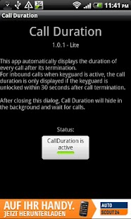 Call Duration Lite- screenshot thumbnail