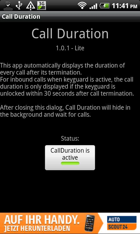 Call Duration Lite - screenshot