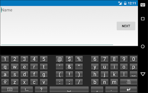 English Text Expansion Keyboard Screenshot
