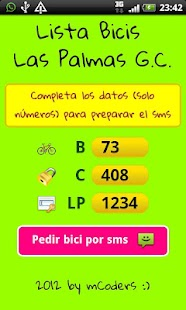 Lista Bicis Las Palmas - screenshot thumbnail