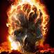 Flaming Skull Live Wallpa