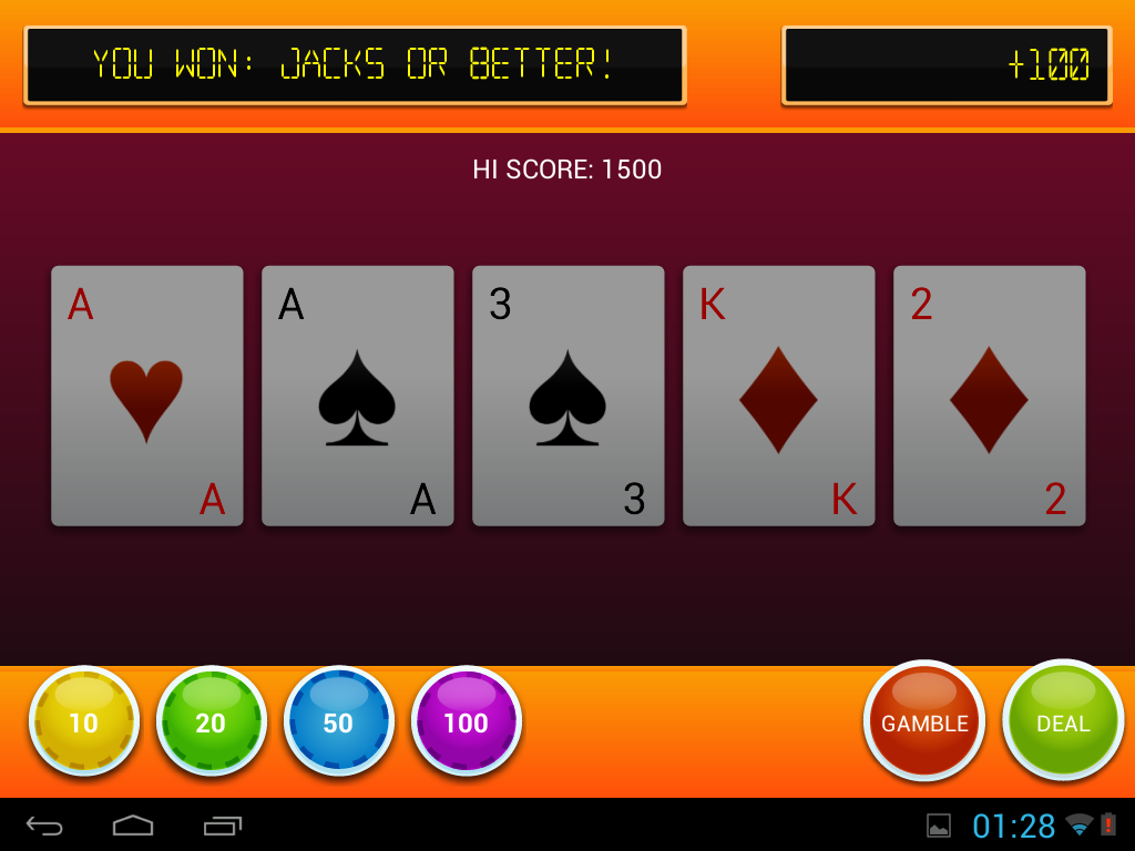Video Poker: Cool Jack - screenshot