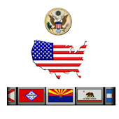 USA - States, Flags & Slogans