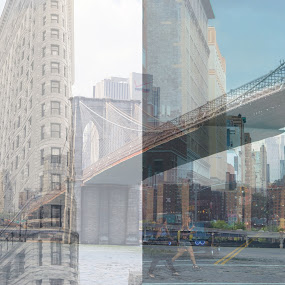 NYC by Erica Thorpe - City,  Street & Park  Skylines ( building, skyline, street, nyc, bride, city )