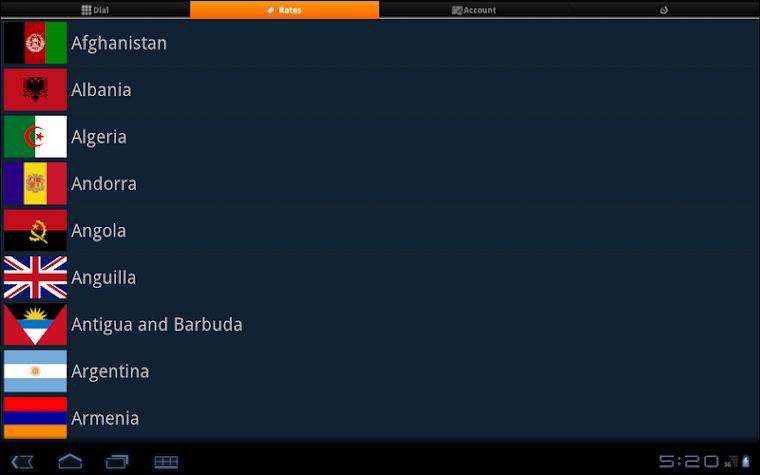 Tablet Calling Screenshot