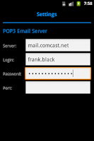Screenshot of MailClean