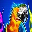 3D cool Parrot logo