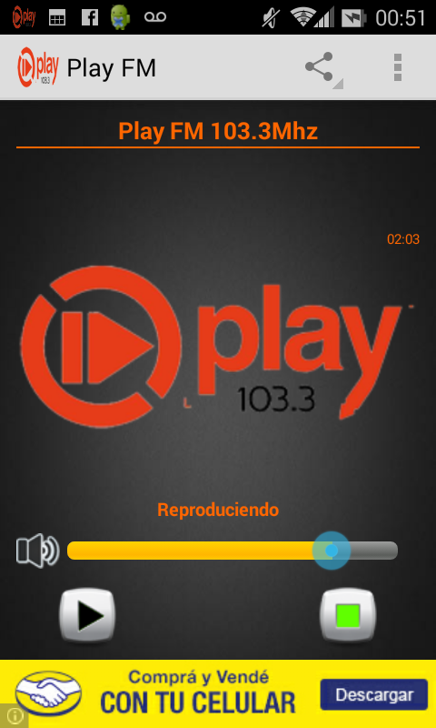 Play FM Posadas: captura de pantalla