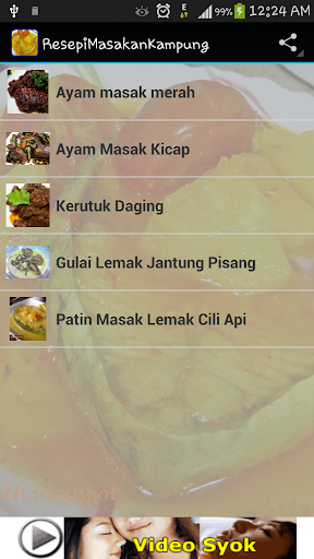 Resepi Masakan Kampung