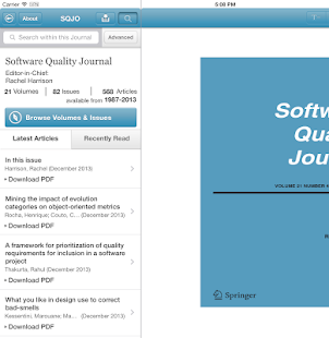 Software Quality Journal - screenshot thumbnail