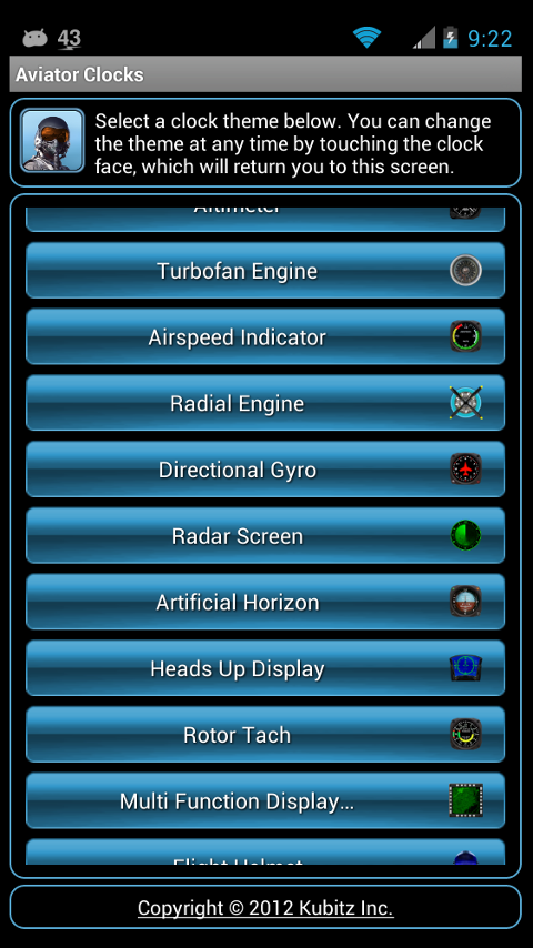 Aviator Clocks - screenshot