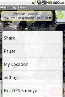 GPS Surveyor Free - screenshot thumbnail