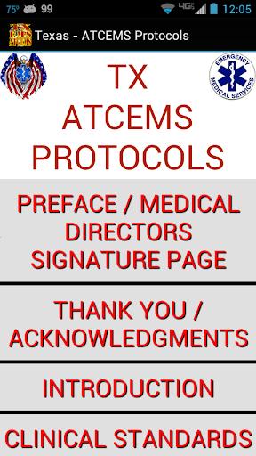 TX ATCEMS Protocols