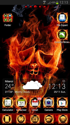 Fire Me GO Launcher EX theme