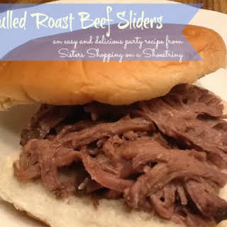 Pulled Roast Beef Sliders or Sandwiches.