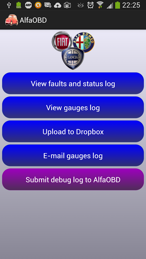 AlfaOBD- screenshot
