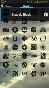 Shapely Black Icons - screenshot thumbnail