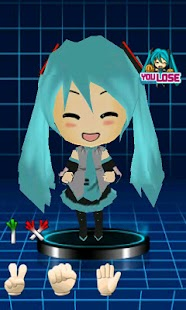 3D Miku finger-guessing game- screenshot thumbnail