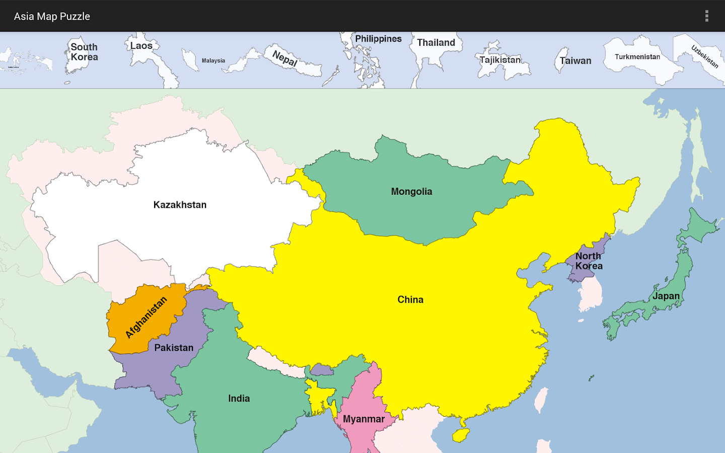 Asia Map Puzzle Android Apps On Google Play - Map asia