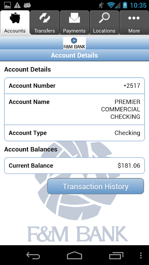 F&M Mobile Money - screenshot