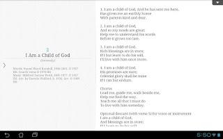 Screenshot of LDS Children's Songbook