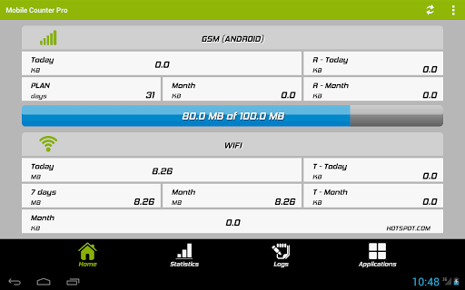 Mobile Counter Pro - 4G, WIFI Aplicaciones para Android screenshot