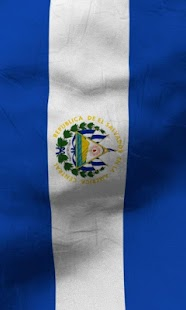 El salvador flag lwp Free - screenshot thumbnail