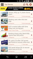 Screenshot of Business Standard for Android