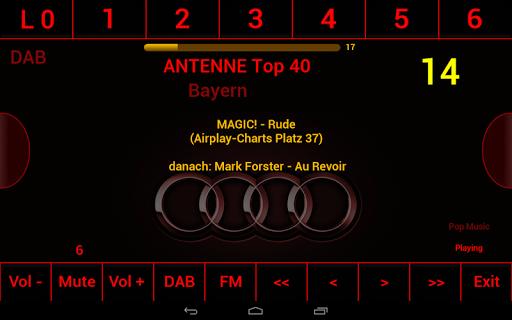 DAB FM MonkeyBoard Audi Skin
