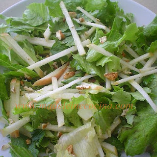 Apple and Lettuce Salad.