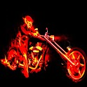 3D cool Motorcyclists logo