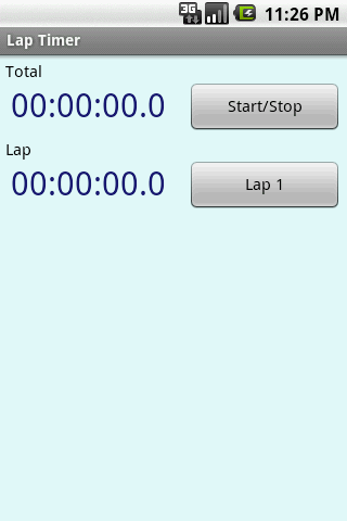 Lap Timer- screenshot