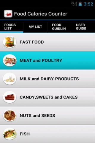 Food Calories Counter - screenshot