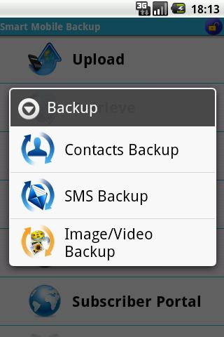 Smart Mobile Backup - screenshot