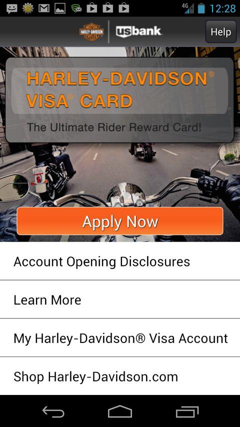 Harley-Davidson Visa - screenshot