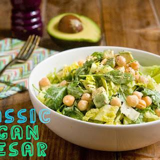 Classic Vegan Caesar With Avocado & Chickpeas