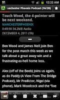 Screenshot of Manchester Phoenix Podcast App