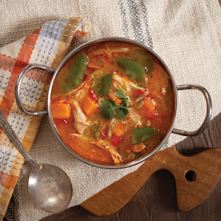 Chicken-Coconut Soup with Sweet Potato