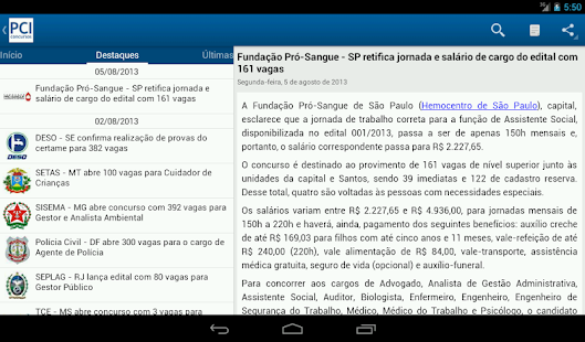 PCI Concursos - screenshot thumbnail